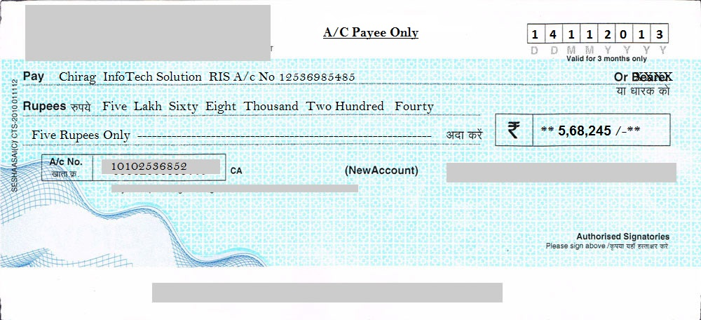 how to write a cheque without cheque book